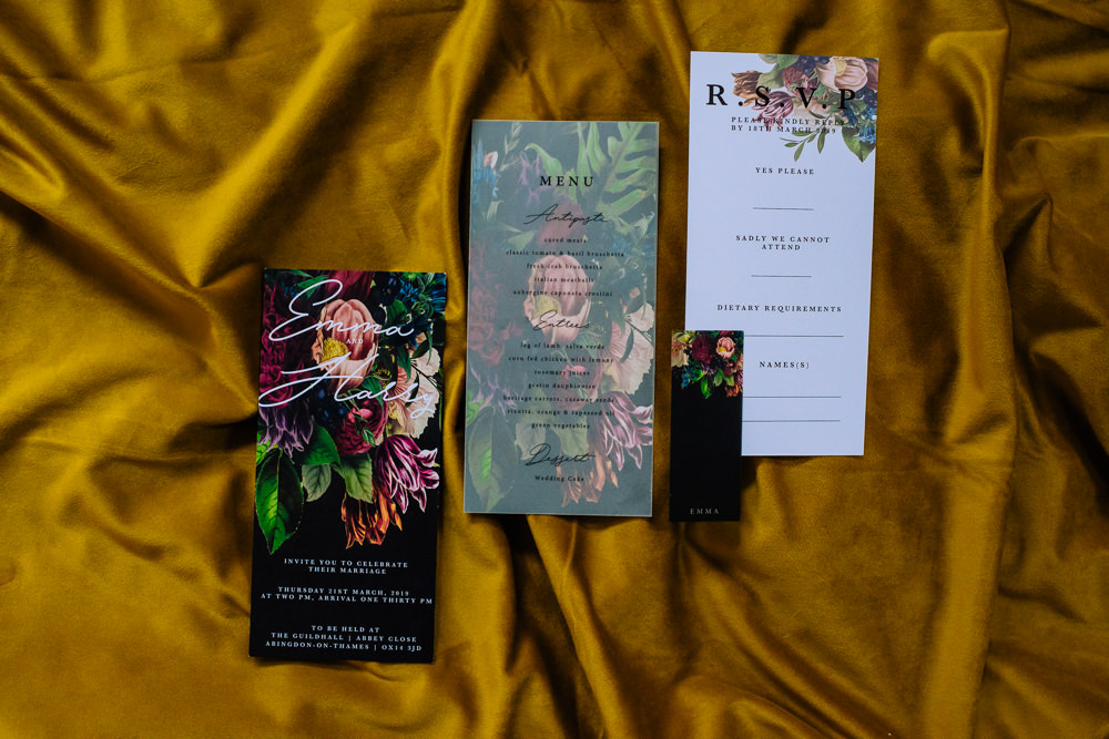 Floral Stationery Black Invite Invitations Dutch Art Wedding Ideas Berni Palumbo Photography