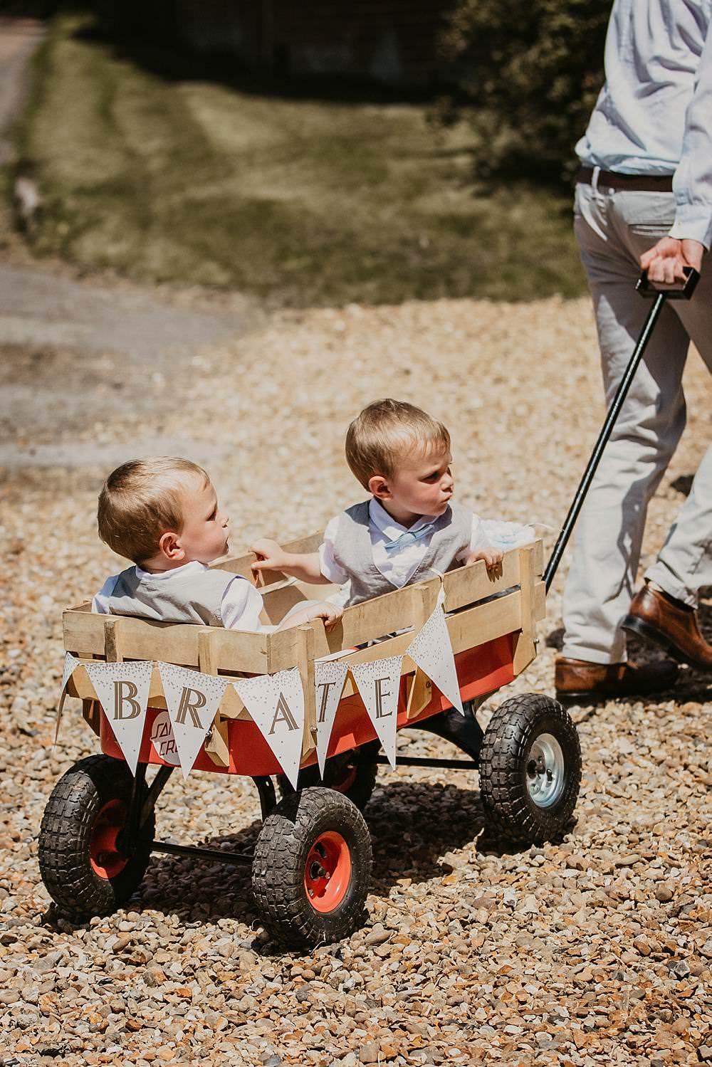 Page Boy Wagon Transport Eggington House Wedding October Willis Photography