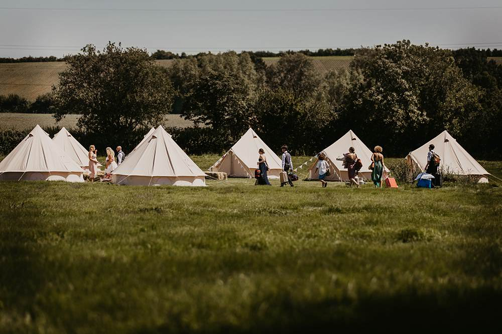 Bell Tents Glamping Eggington House Wedding October Willis Photography