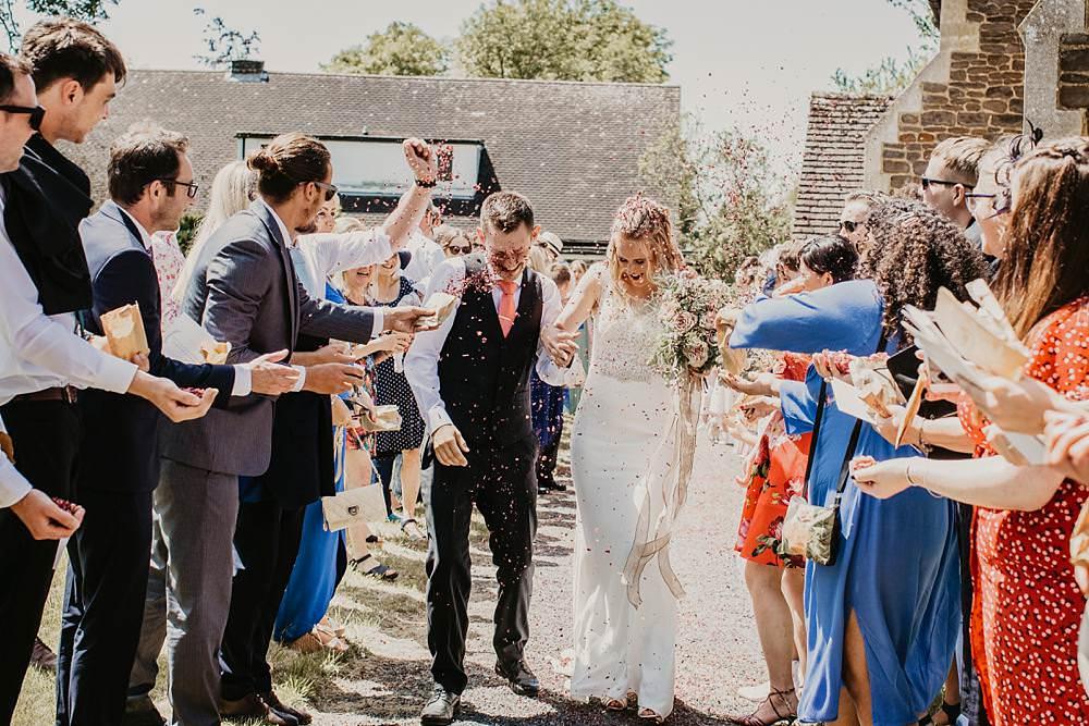 Confetti Eggington House Wedding October Willis Photography