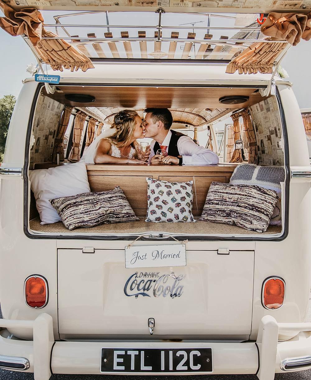 Eggington House Wedding October Willis Photography VW Campervan Transport