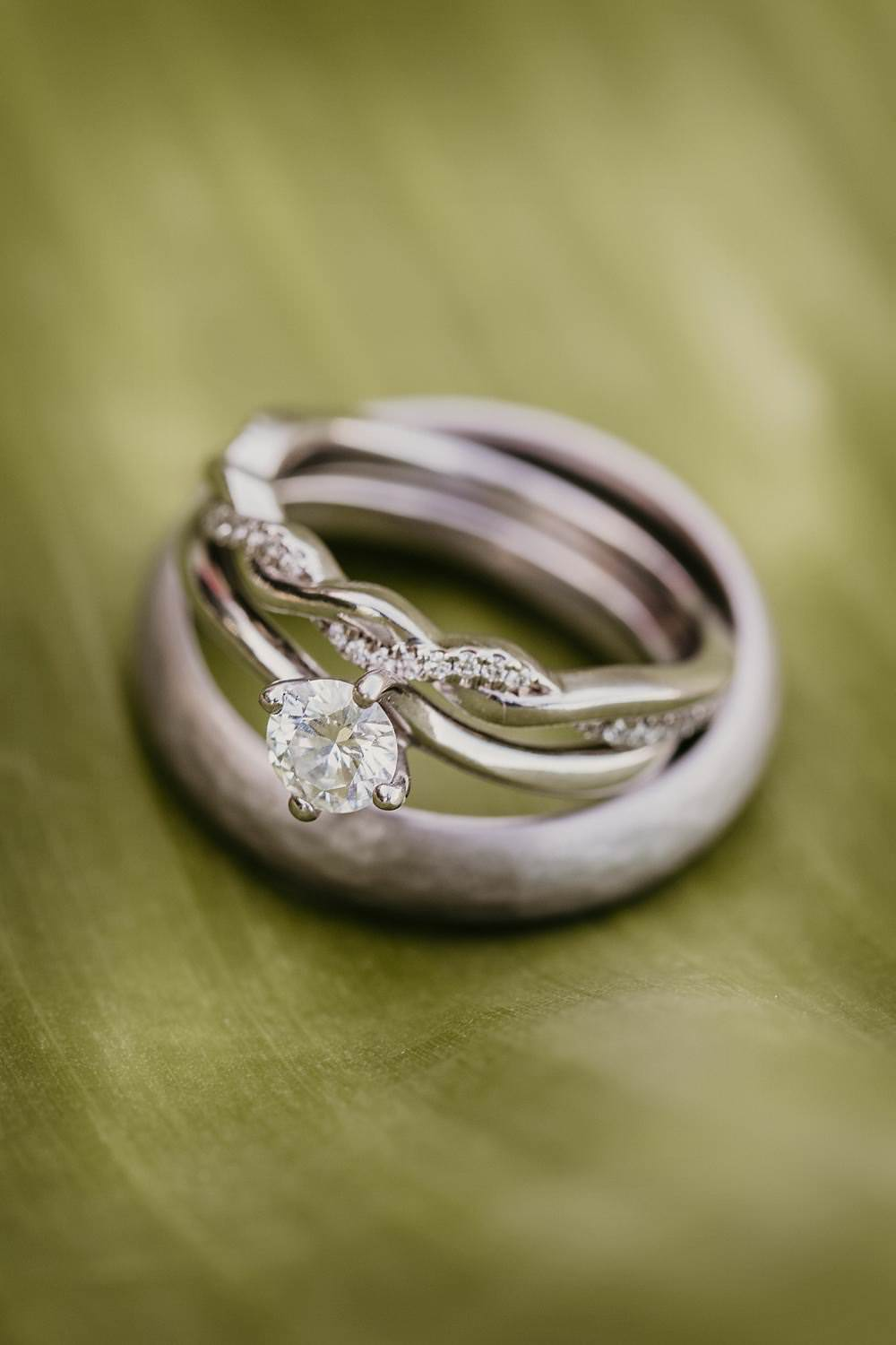 Engagement Ring Solitaire Diamond Band Eggington House Wedding October Willis Photography