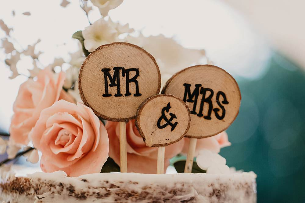 Wooden Cake Topper Eggington House Wedding October Willis Photography