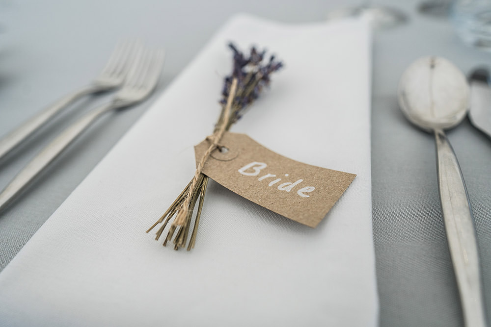 Luggage Tag Place Name Cards Lavender Place Setting Ever After Wedding Younger Photography