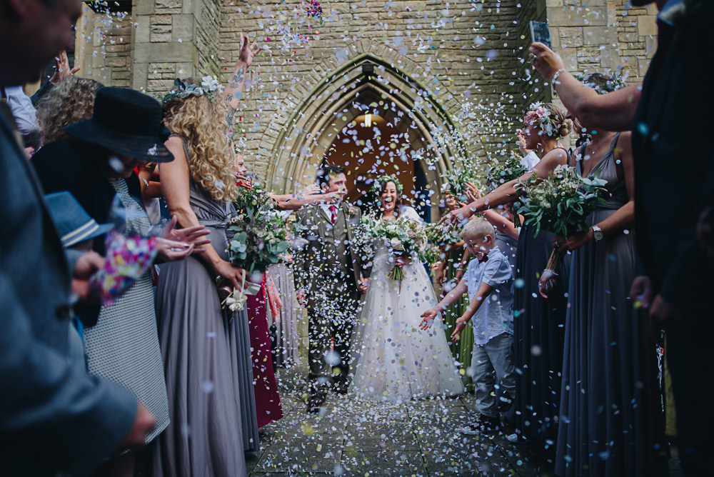 Bride Bridal V Neck Lace Tule A Line Skirt Long Sleeve Greenery Flower Crown Tweed Suit Groom Confetti Fairfield Social Club Wedding The Pin Up Bride