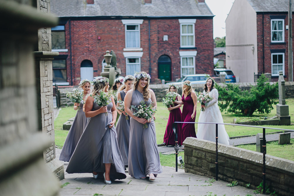 Multiway Bridesmaids Flower Crowns Greenery Fairfield Social Club Wedding The Pin Up Bride
