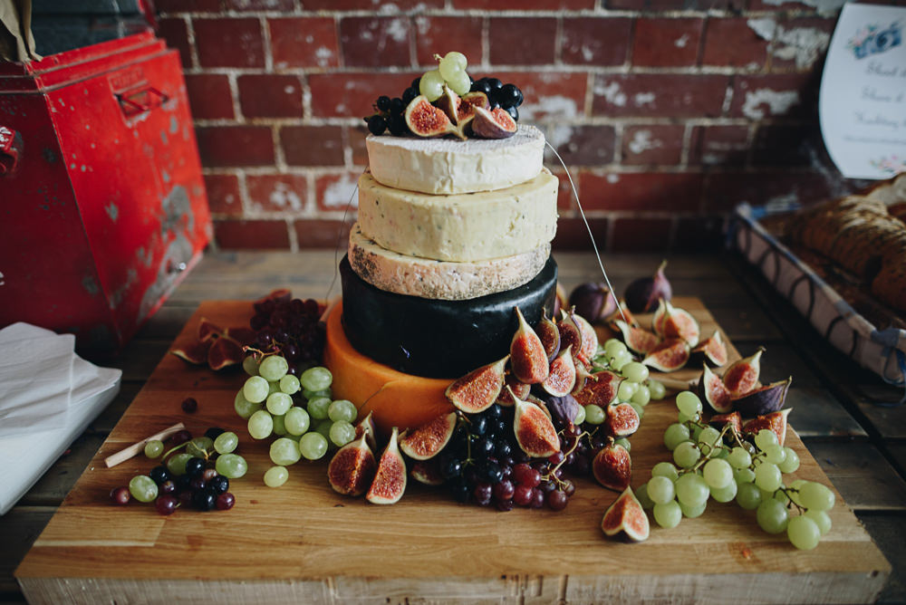 Cheese Tower Cake Fairfield Social Club Wedding The Pin Up Bride