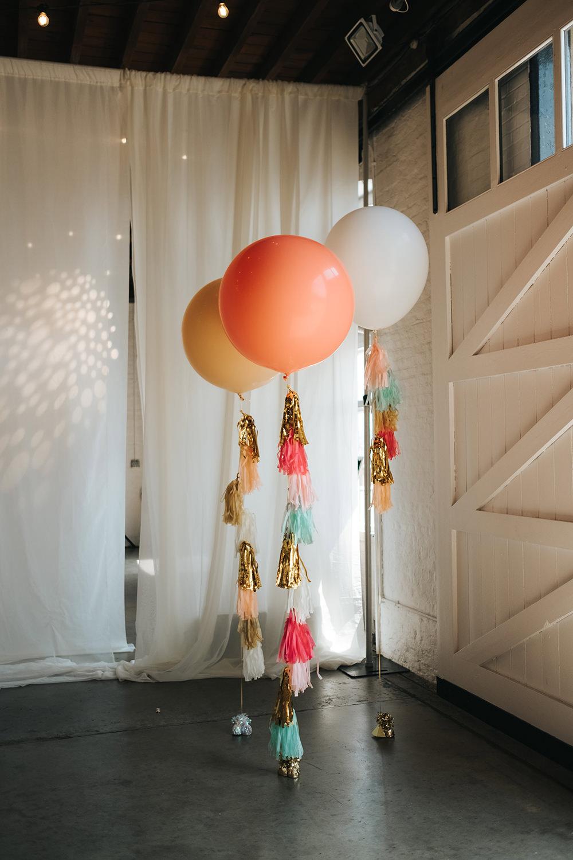 Tassel Balloons Giant Helium Fun London Wedding Miss Gen Photography