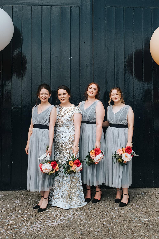 Bridesmaids Bridesmaid Dress Dresses Grey Fun London Wedding Miss Gen Photography