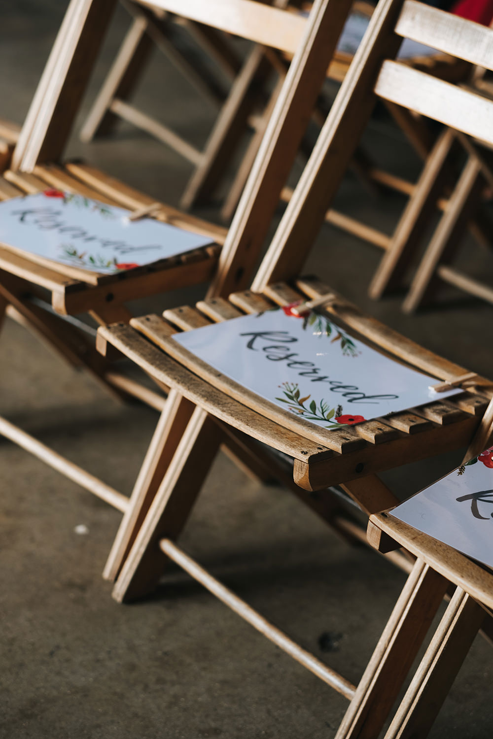 Reserved Sign Chairs Seating Ceremony Fun London Wedding Miss Gen Photography