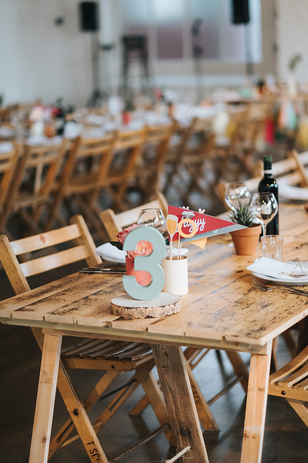 Cut Out Table Number Fun London Wedding Miss Gen Photography