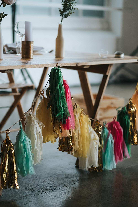Tassel Garland Top Table Fun London Wedding Miss Gen Photography
