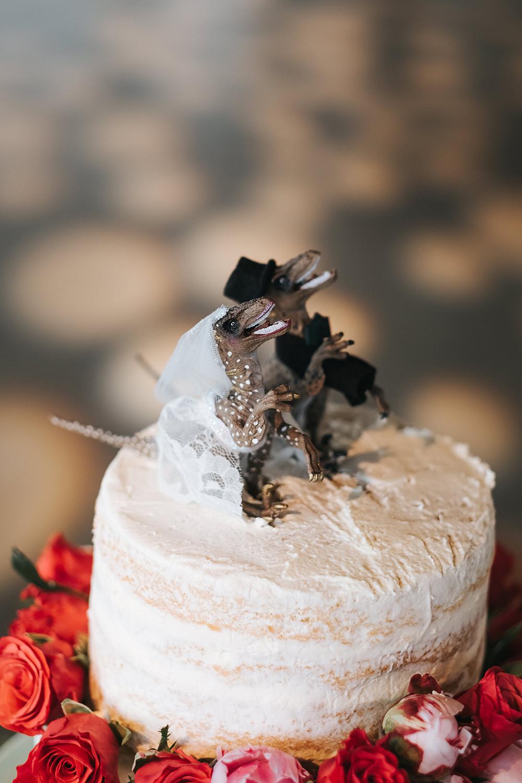 Dinosaur Cake Topper Fun London Wedding Miss Gen Photography