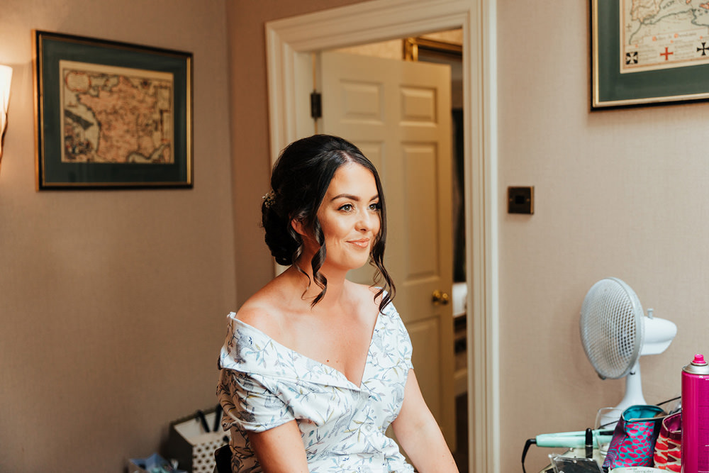 Bride Bridal Make Up Hazlewood Castle Woodland Wedding Nicola Mackrill Photography