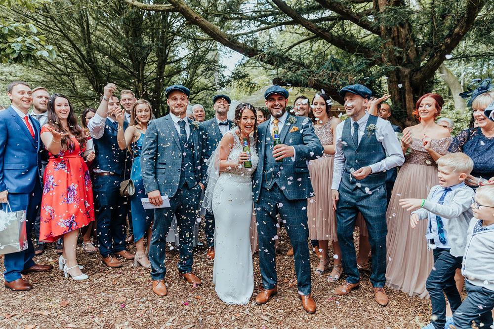 Confetti Hazlewood Castle Woodland Wedding Nicola Mackrill Photography