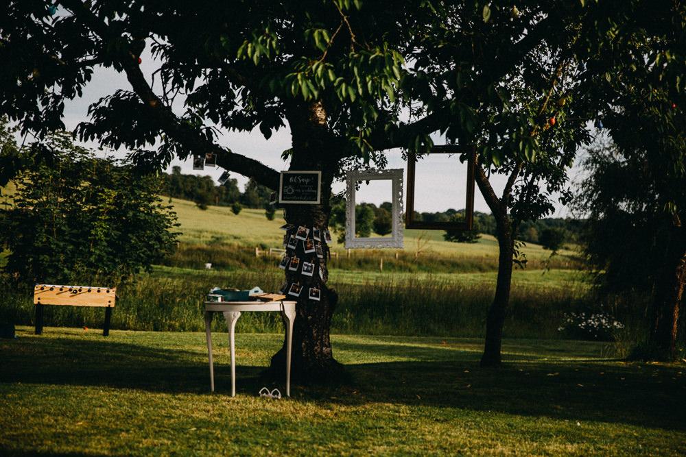 Photo Booth Frames Hanging Tree Horsebridge Station Wedding Emily Grace Photography