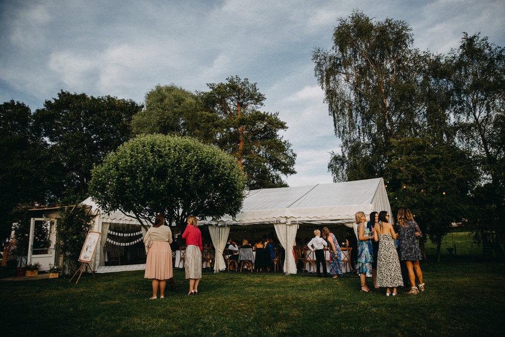 Marquee Horsebridge Station Wedding Emily Grace Photography