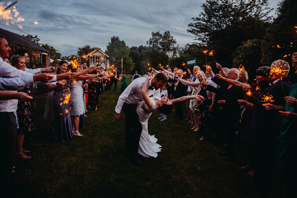 Sparkler Send Off Exit Horsebridge Station Wedding Emily Grace Photography