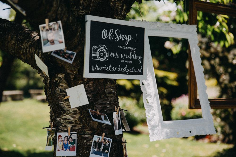 Photo Booth Frames Hanging Horsebridge Station Wedding Emily Grace Photography