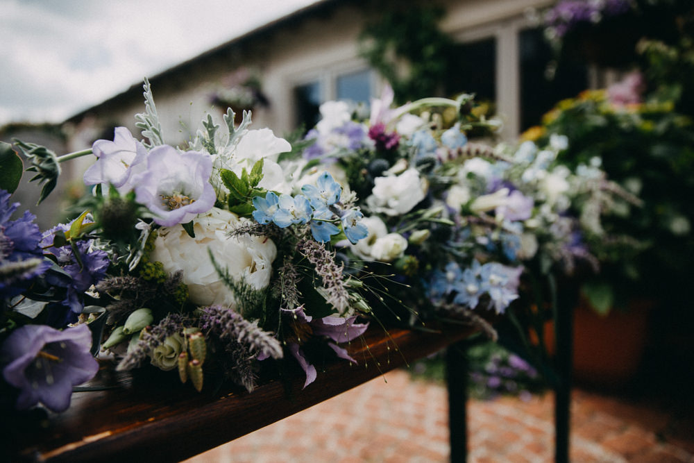 Bouquet Flwoers Bride Bridal Rose Lily Thisle Horsebridge Station Wedding Emily Grace Photography