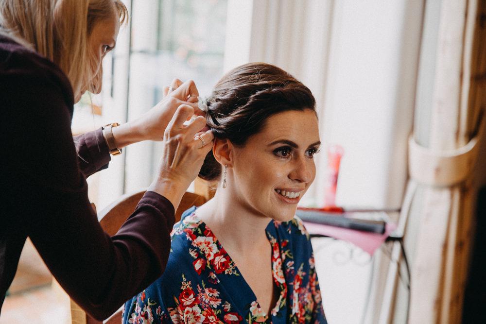 Bride Bridal Make Up Horsebridge Station Wedding Emily Grace Photography