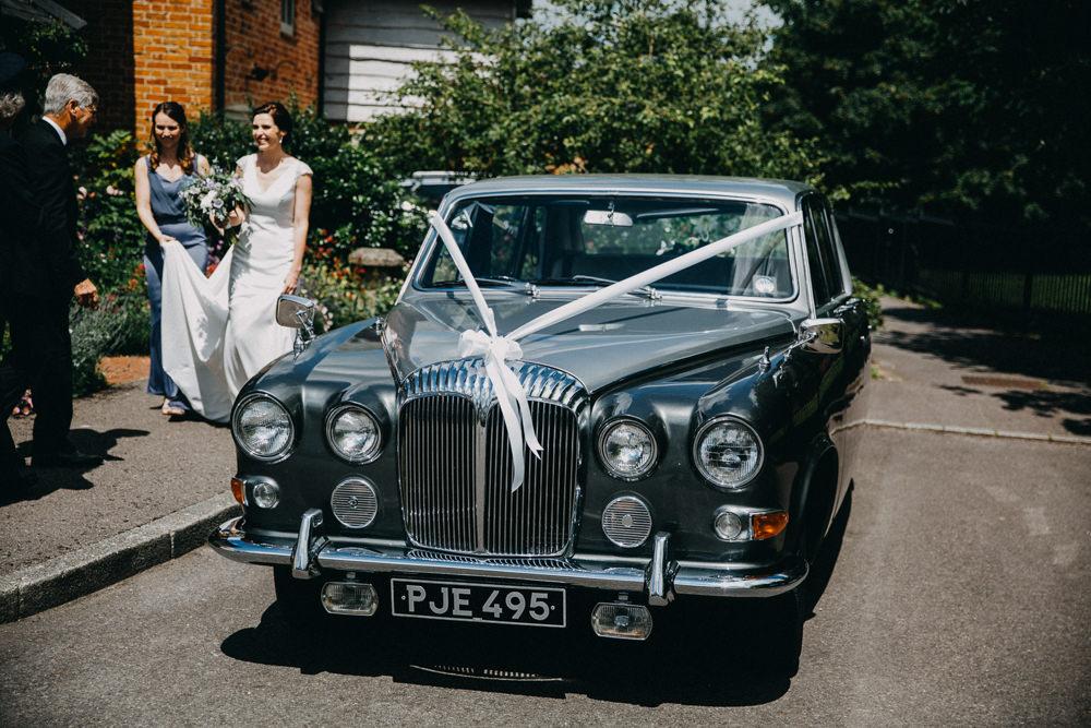 Classic Car Transport Horsebridge Station Wedding Emily Grace Photography