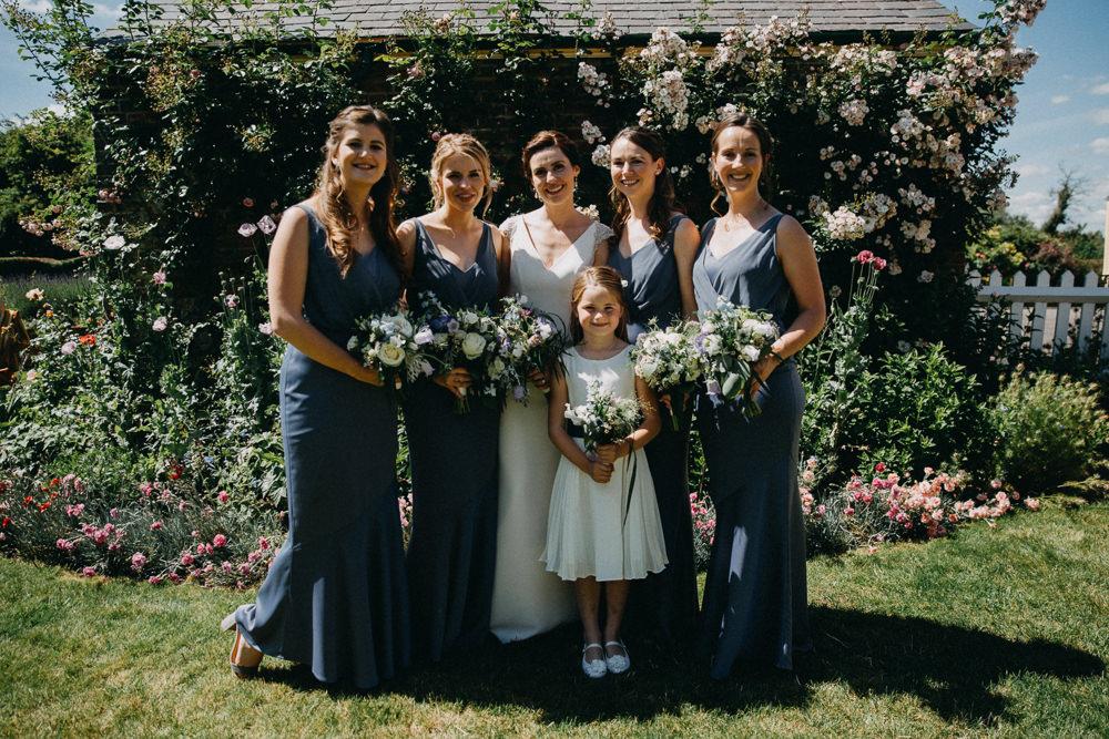 Bridesmaids Bridesmaid Dress Dresses Grey Long Maxi Horsebridge Station Wedding Emily Grace Photography