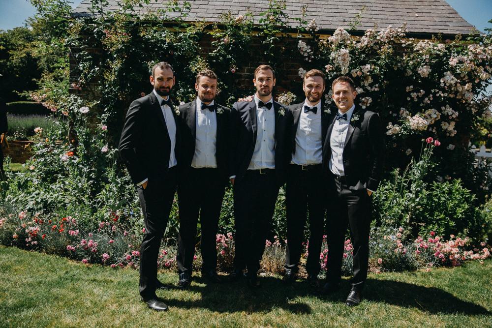 Groom Suit Tux Bow Tie Groomsmen Horsebridge Station Wedding Emily Grace Photography