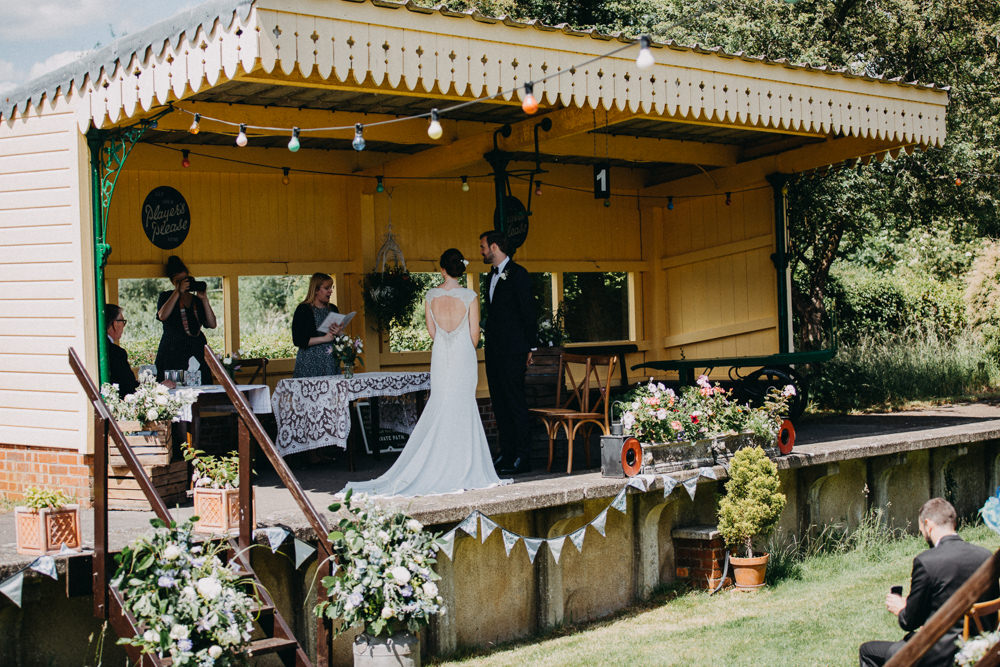 Train Platform Ceremony Horsebridge Station Wedding Emily Grace Photography