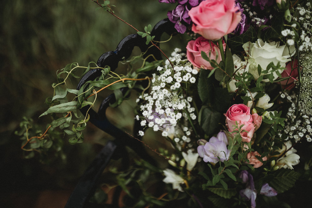 Bouquet Flowers Bride Bridal Rose Greenery Horsley Hale Farm Wedding Thyme Lane Photography