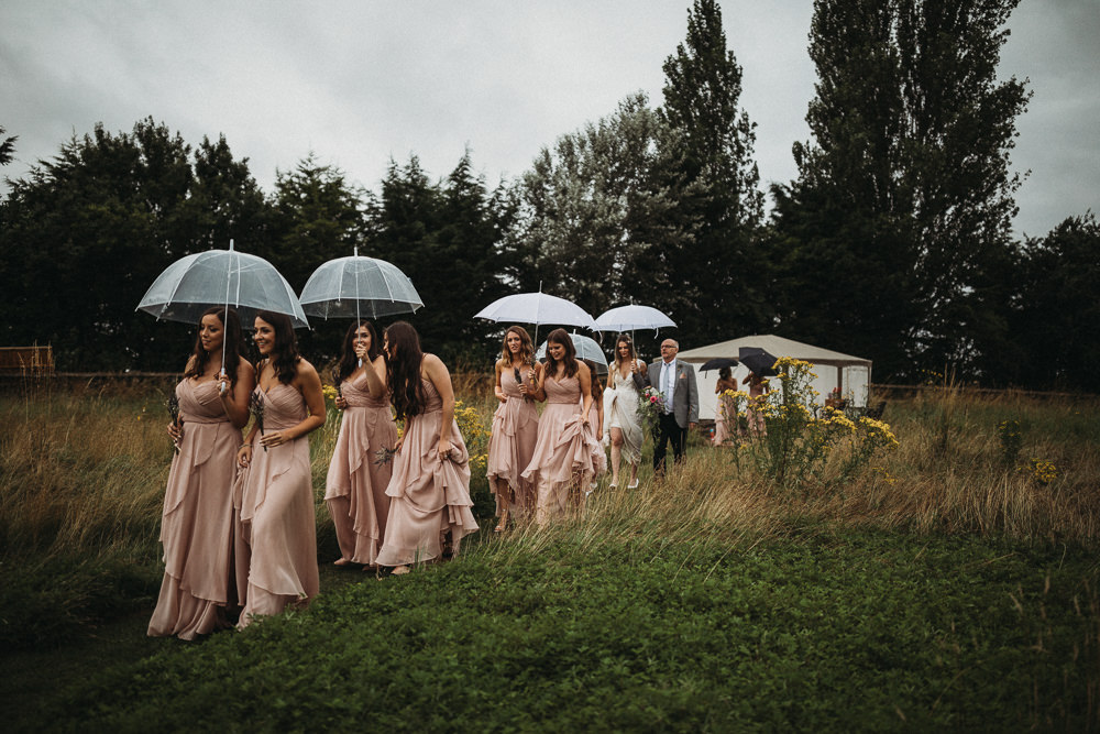 Bridesmaids Bridesmaid Dress Dresses Pink Maxi Horsley Hale Farm Wedding Thyme Lane Photography