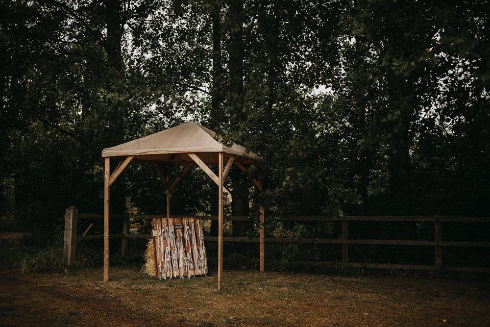 Favors Favours Wooden Pallet Macrame Jar Flowers Gazebo Horsley Hale Farm Wedding Thyme Lane Photography