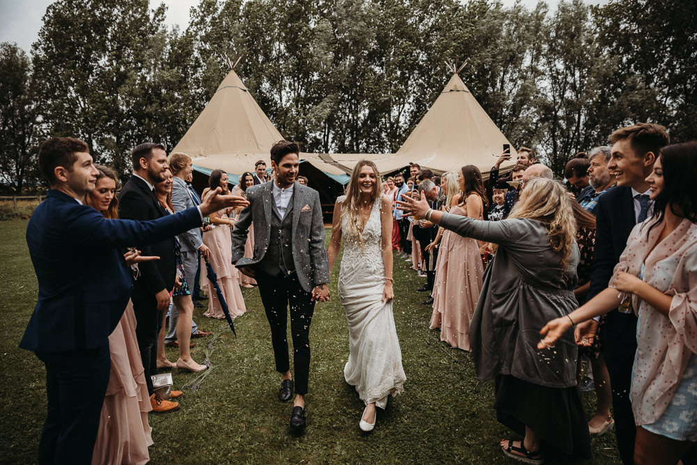 Confetti Horsley Hale Farm Wedding Thyme Lane Photography