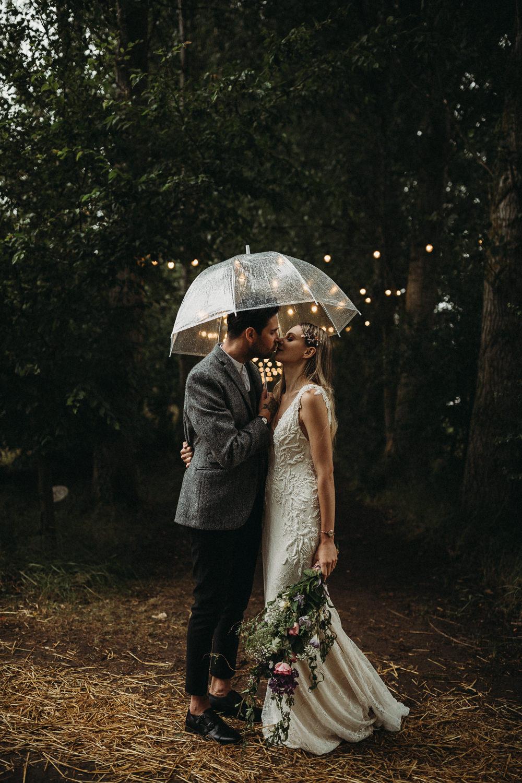 Rainy Rain Umbrella Groom Groomsmen Suit Collar Grey Monk Shoes Horsley Hale Farm Wedding Thyme Lane Photography