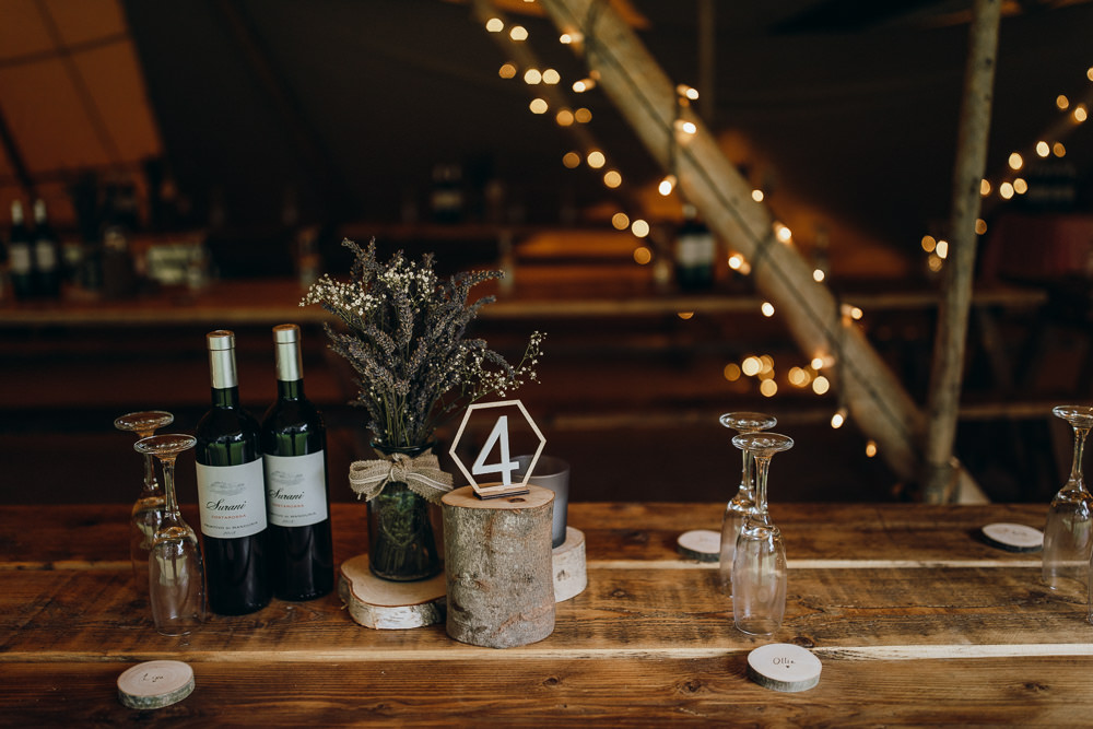 Decor Decorations Table Wood Log Stump Flowers Jar Laser Cut Table Name Number Horsley Hale Farm Wedding Thyme Lane Photography