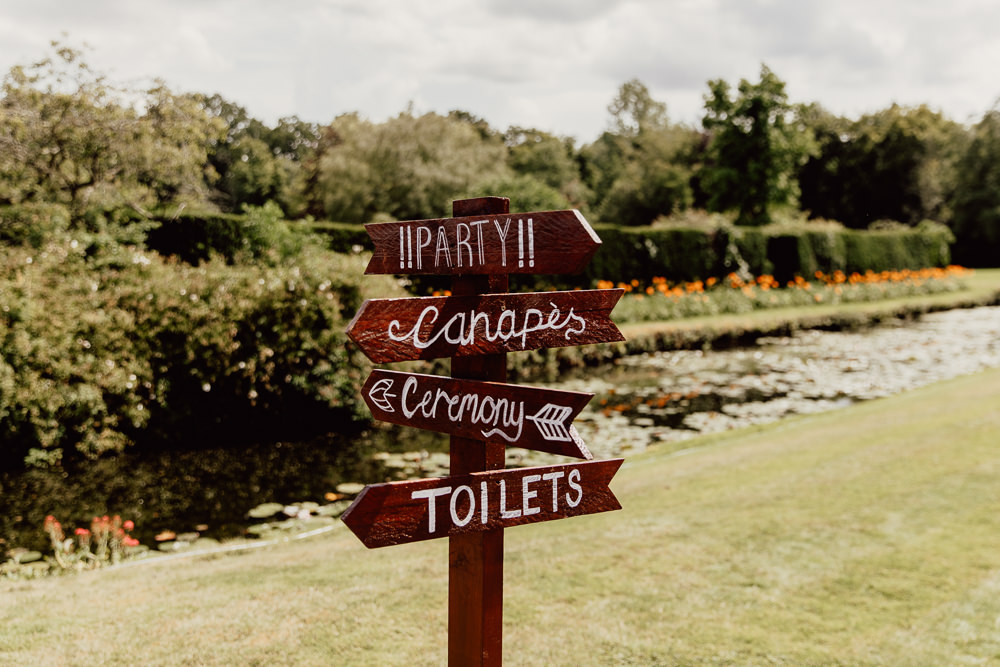 Wooden Pallet Sign Signage Signs Signpost Mannington Gardens Wedding Cara Zagni Photography