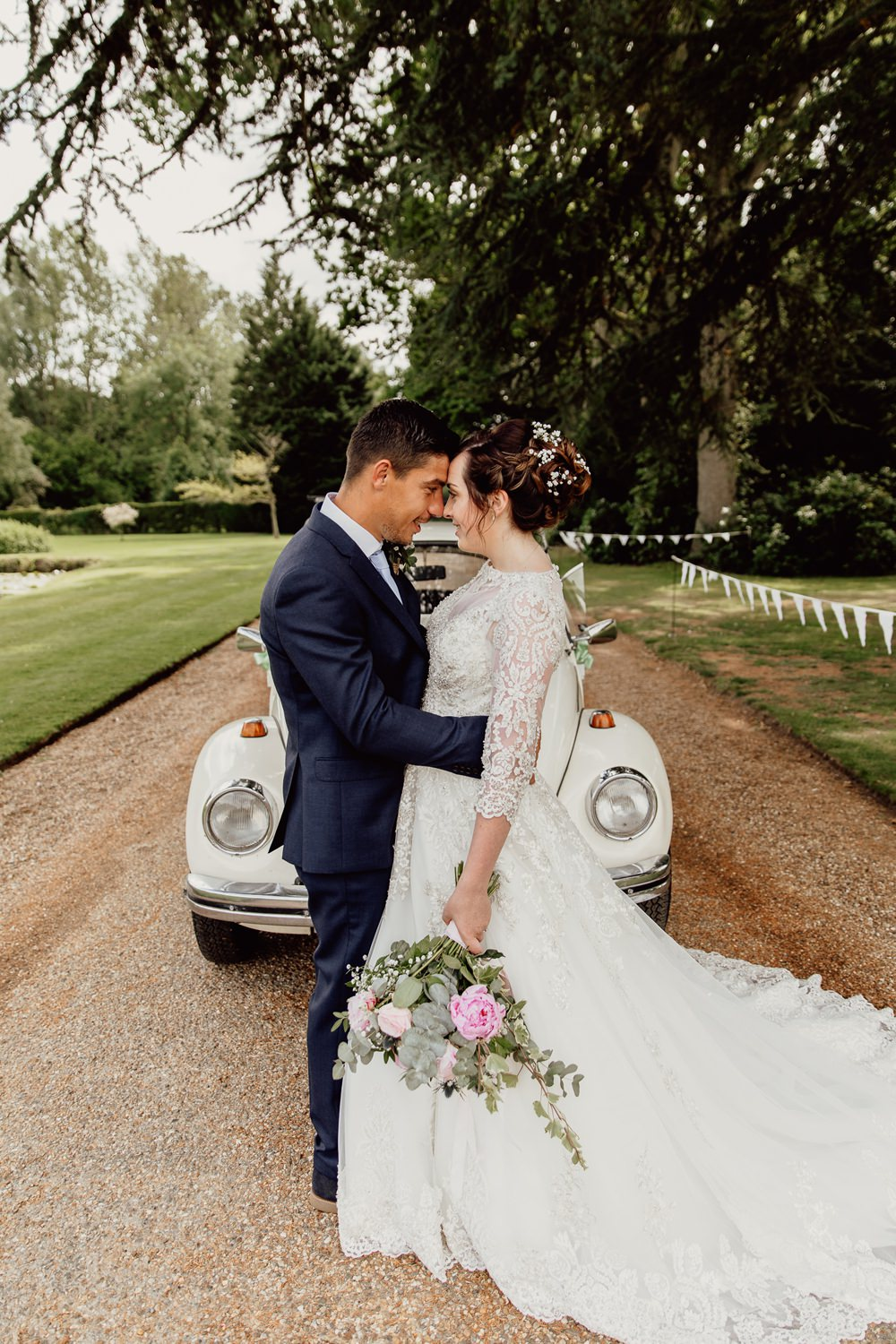 Car Transport VW Beetle Mannington Gardens Wedding Cara Zagni Photography