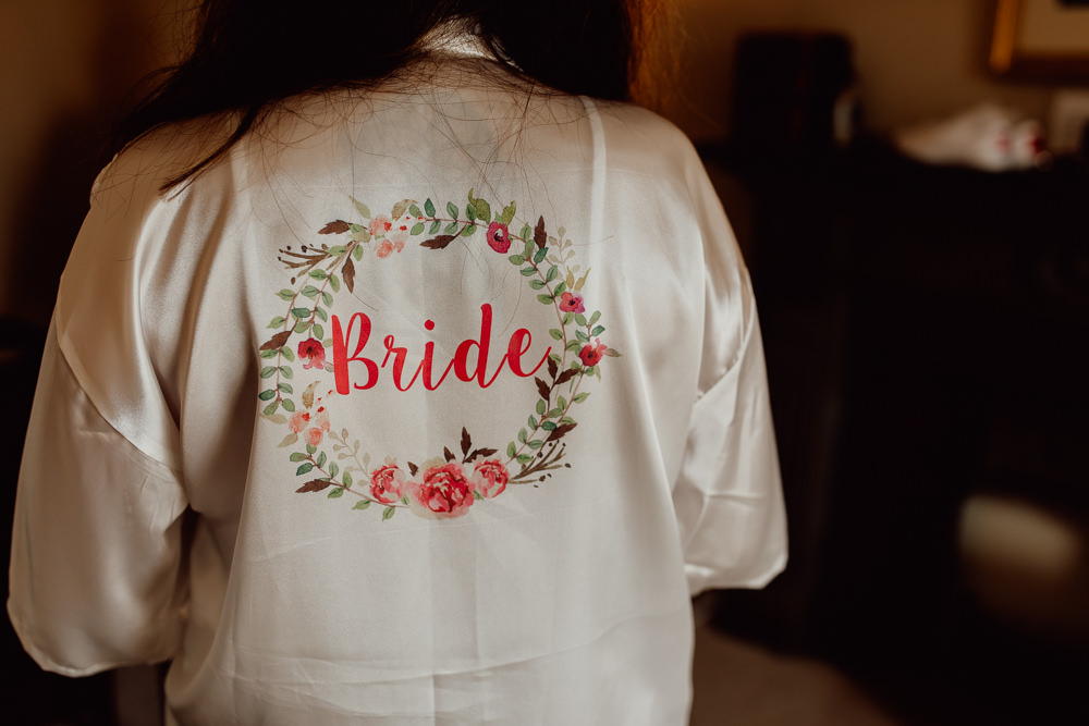 Bride Bridal Dressing Gown Robe Mannington Gardens Wedding Cara Zagni Photography