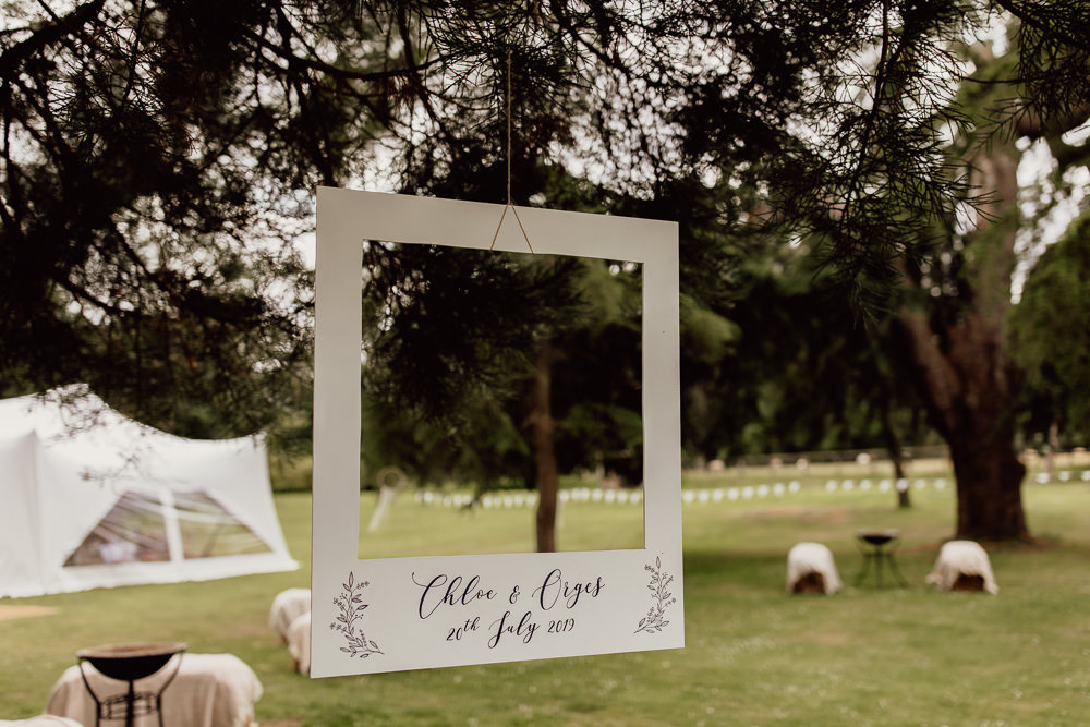 Photo Booth Cut Out Frame Mannington Gardens Wedding Cara Zagni Photography