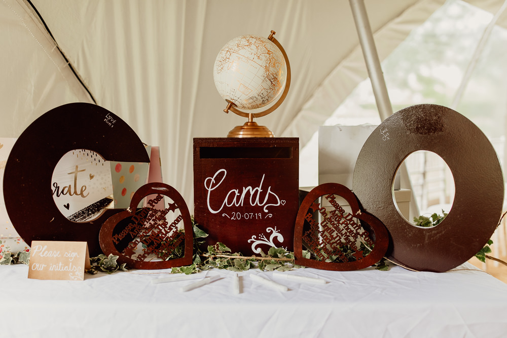 Card Box Mannington Gardens Wedding Cara Zagni Photography
