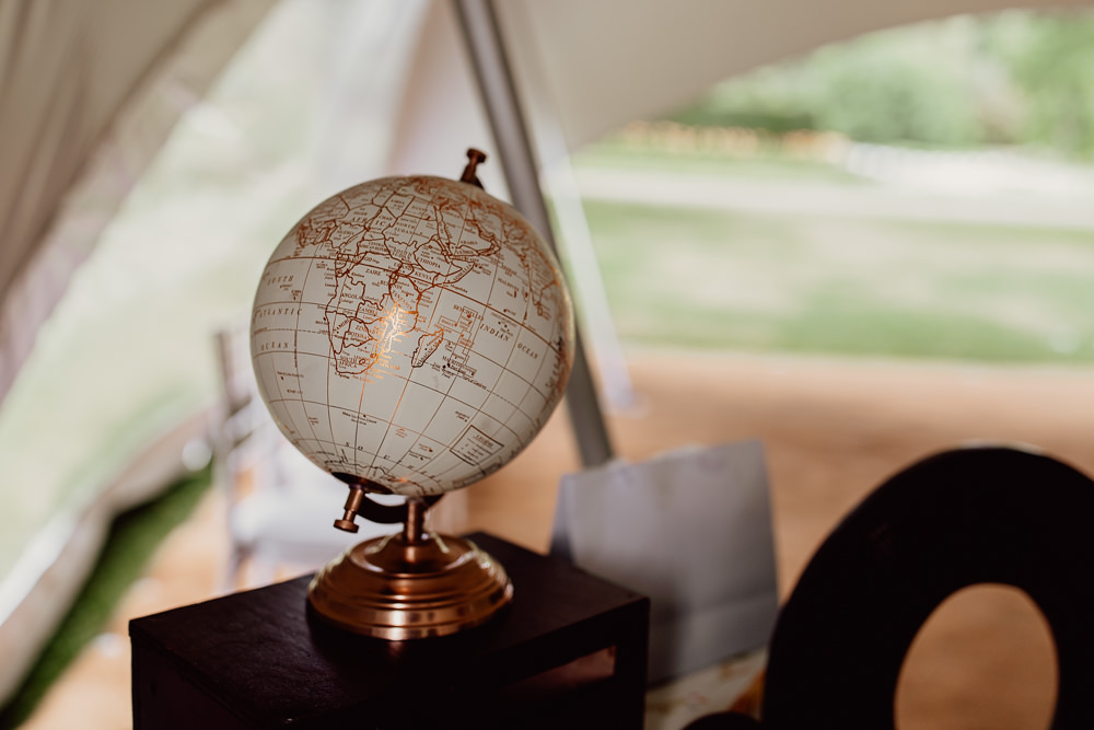 Globe Guest Book Mannington Gardens Wedding Cara Zagni Photography