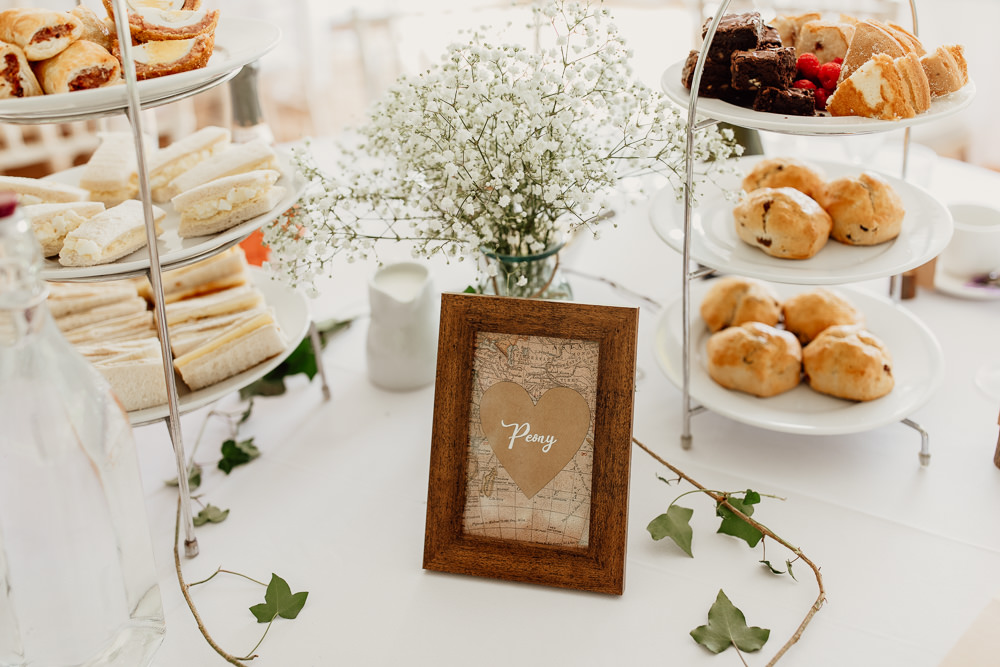 Frame Table Names Numbers Mannington Gardens Wedding Cara Zagni Photography