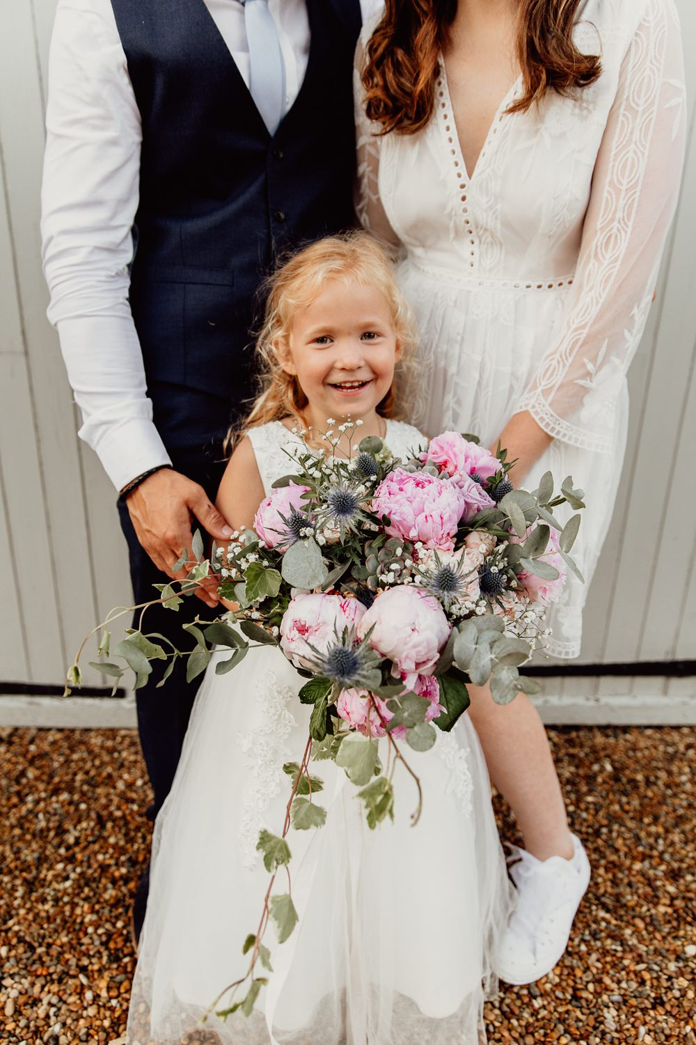 Bouquet Flowers Bride Bridal Pink Peony Peonies Eucalyptus Flower Girl Mannington Gardens Wedding Cara Zagni Photography