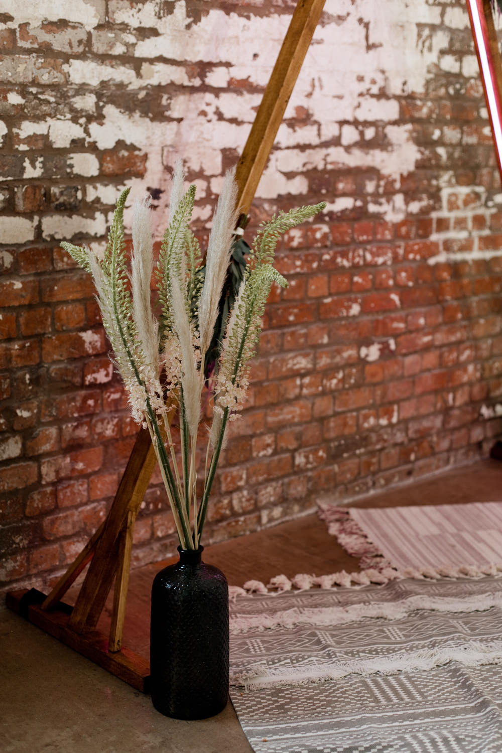 Pampas Grass Decor Decoration Flowers Moroccan Wedding Ideas Emma Louise Photography