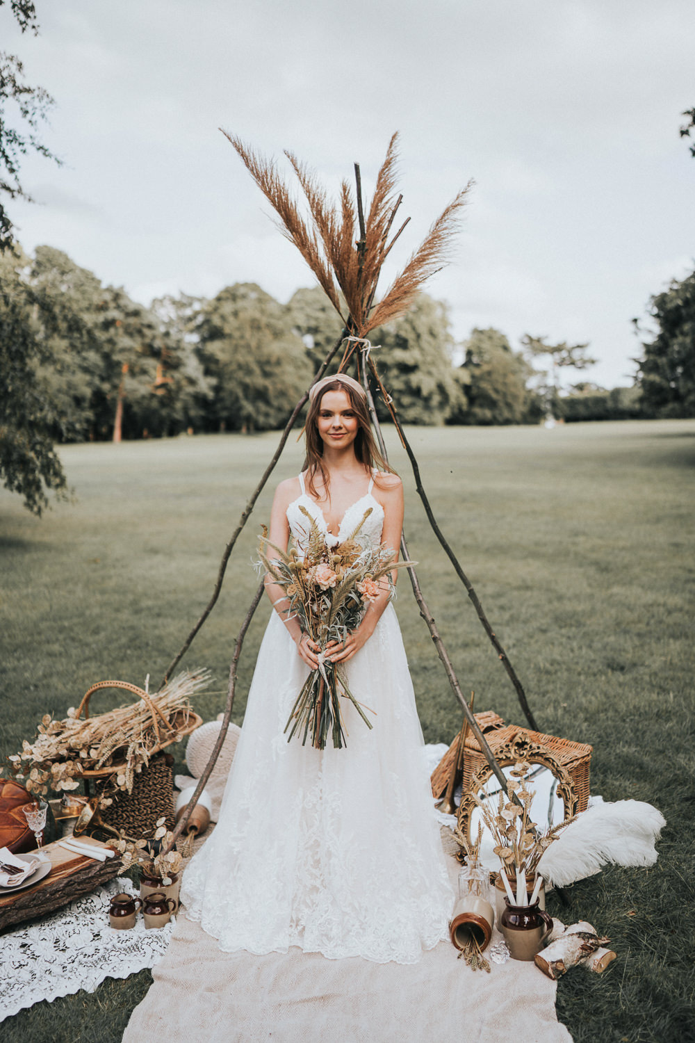 Naked Tipi Wedding Ideas Holly Rose Stones