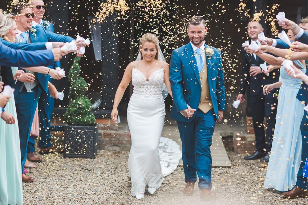 Confetti Priory Little Wymondley Wedding Milk Bottle Photography