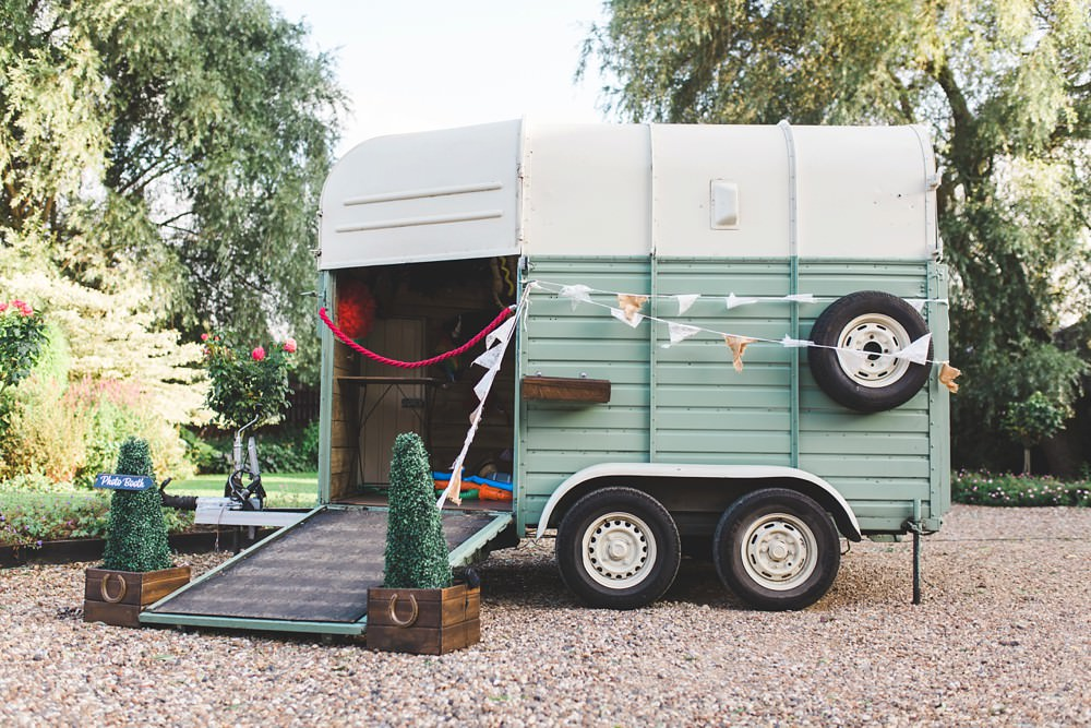 Horse Box Photo Booth Priory Little Wymondley Wedding Milk Bottle Photography