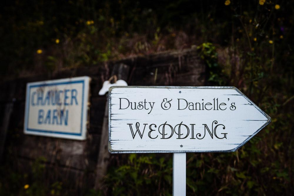 Sign Signpost Signs Secret Garden Wedding James Powell Photography