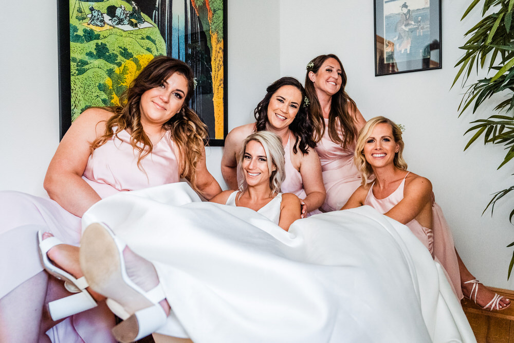 Pink Bridesmaid Dress Dresses Bridesmaids Secret Garden Wedding James Powell Photography