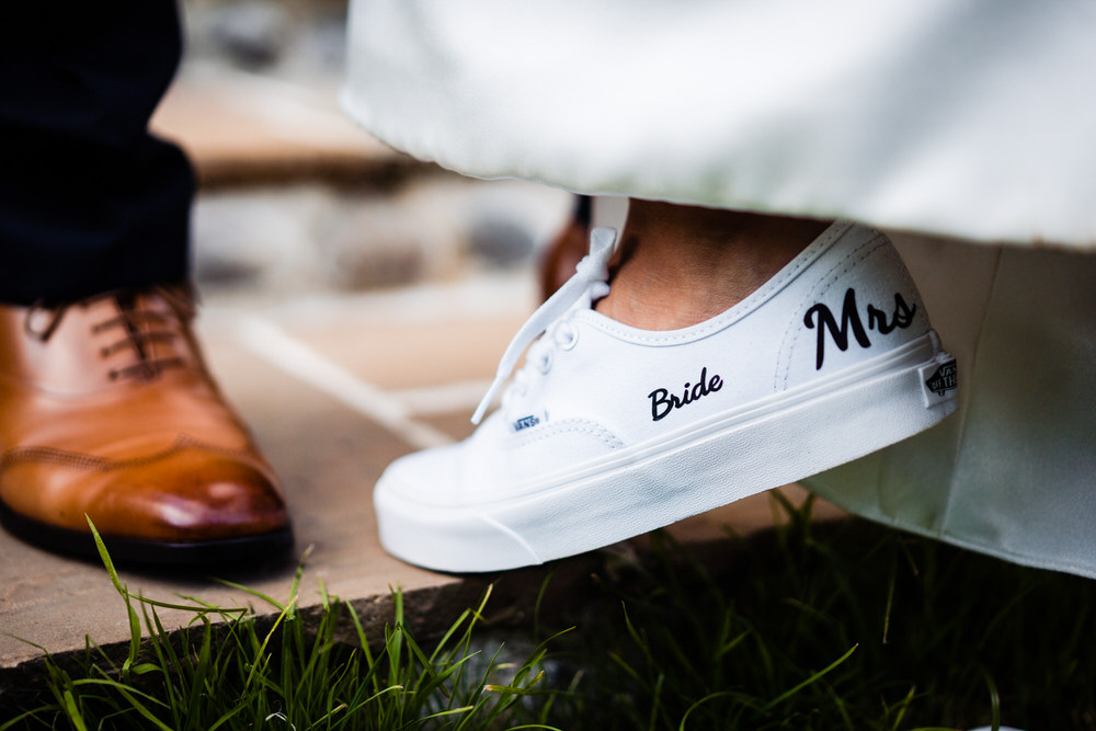 Custom Personalised Trainers Bride Bridal Secret Garden Wedding James Powell Photography